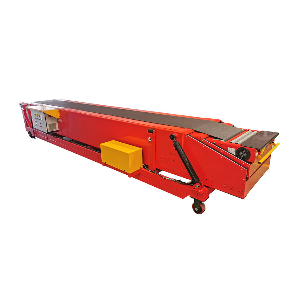 Movable telescopic belt conveyor for package truck
