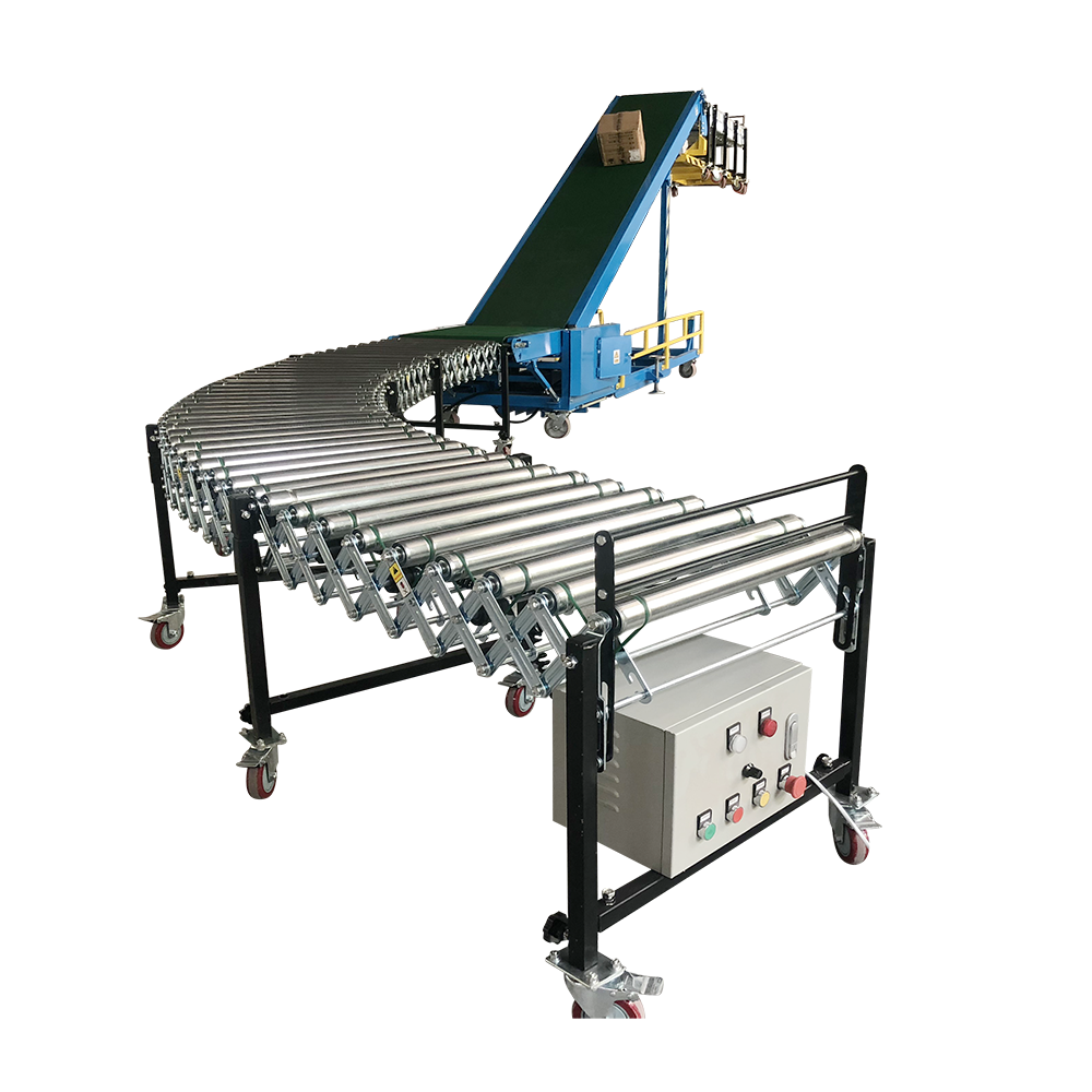 Automatic Truck Loading Belt Conveyor Car Loading Equipment