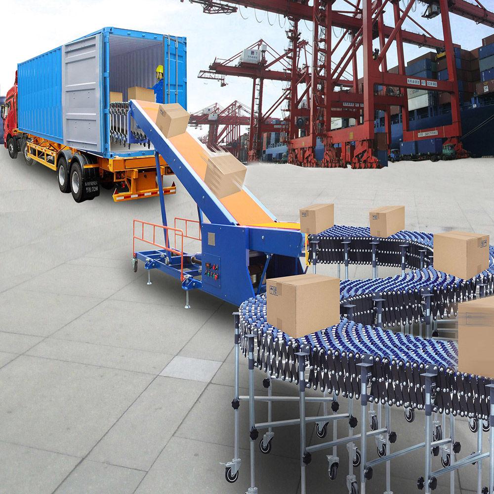 Truck Loading Conveyor Telescopic Belt Conveyor System Load in Container Machine