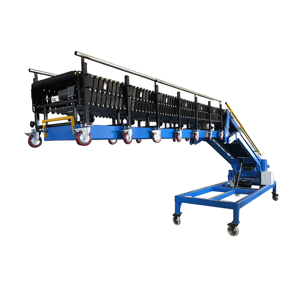 Adjustable Truck Loading Belt Conveyor Telescopic Conveyor System
