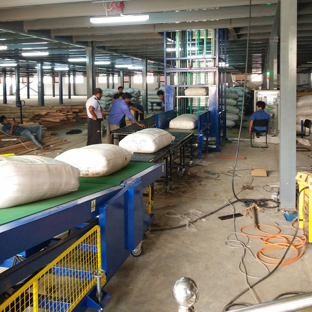Automatic Rice Loading and Unloading Machine Bag Stacker Conveyor