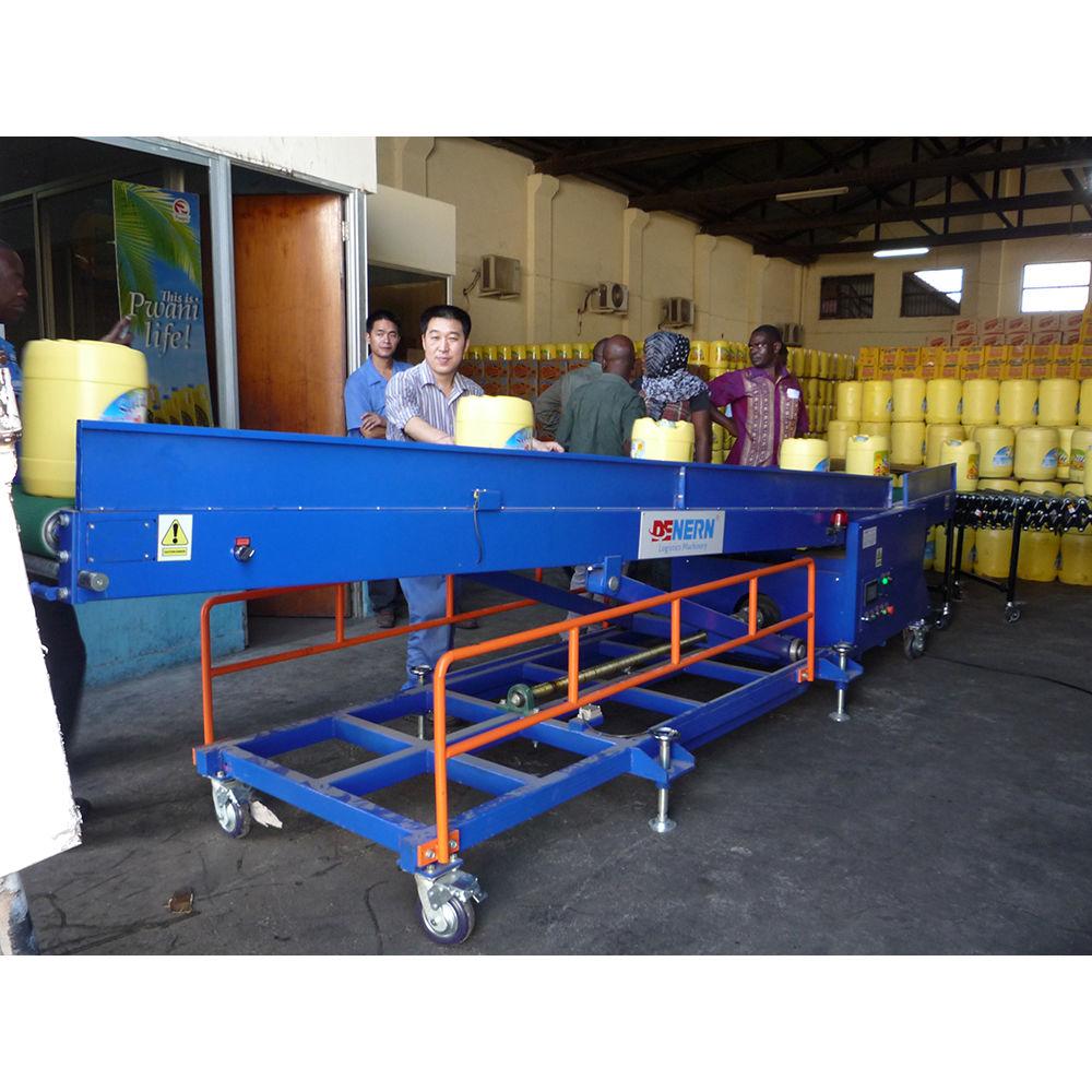 Truck Unloading Equipment Belt Conveyor Automatic Unloading Loading Conveyor