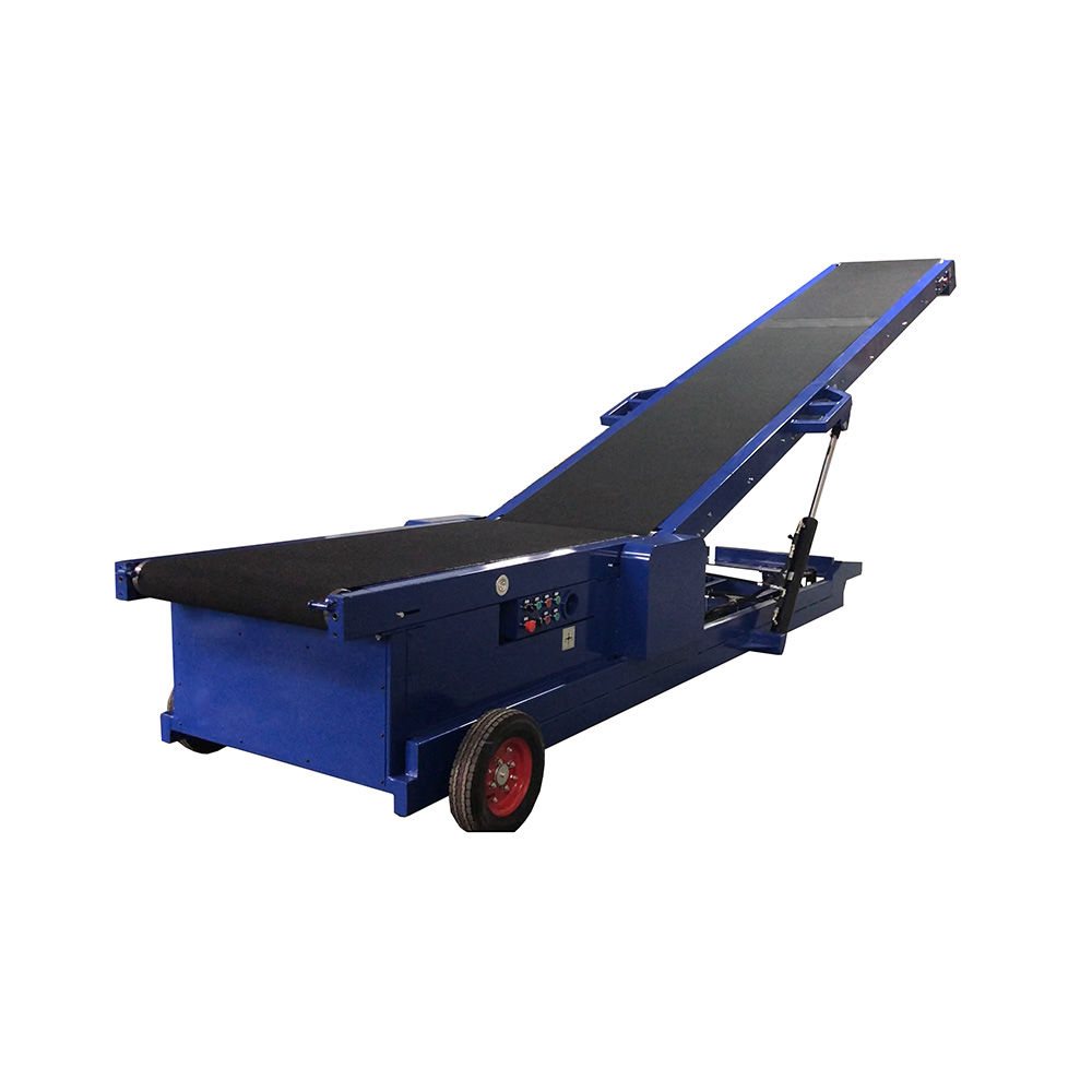 New design electric flexible extendable conveyor used for loading truck