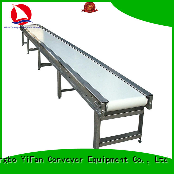 YiFan 2019 new designed belt conveyor with bottom price for food industry