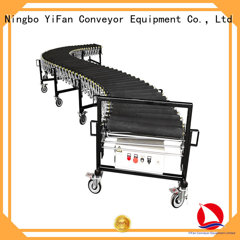 YiFan professional powered flexible conveyor from China for dock