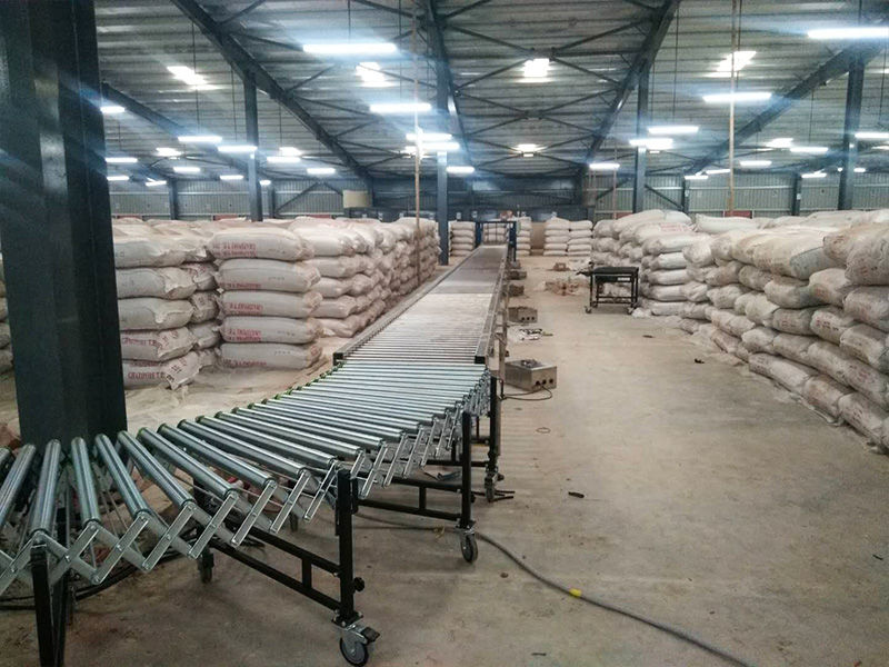 Bangladesh Tea Factory-Motorized Roller Conveyor