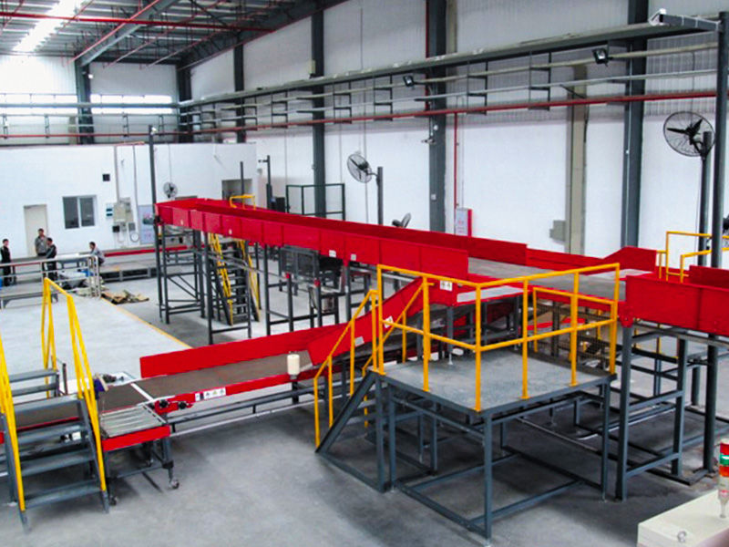 SF Express use flexible powered roller conveyor