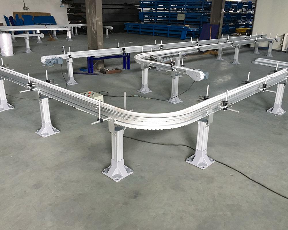 shop slat chain conveyor aluminum popular for beverage industry-2