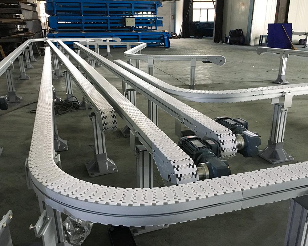 shop slat chain conveyor aluminum popular for beverage industry-1