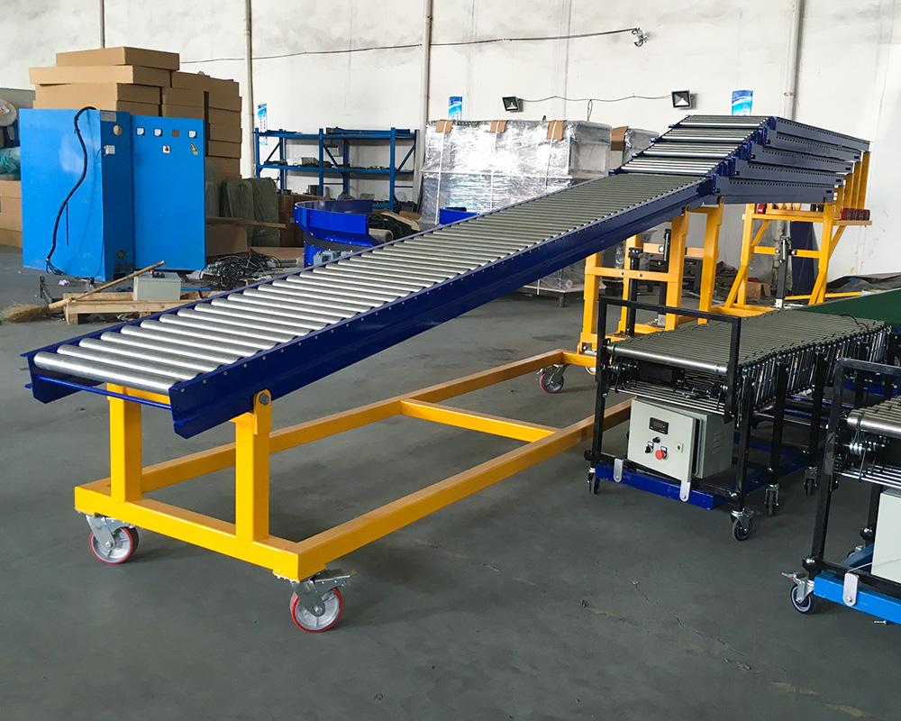 Custom telescopic roller unloading supply for mineral-1