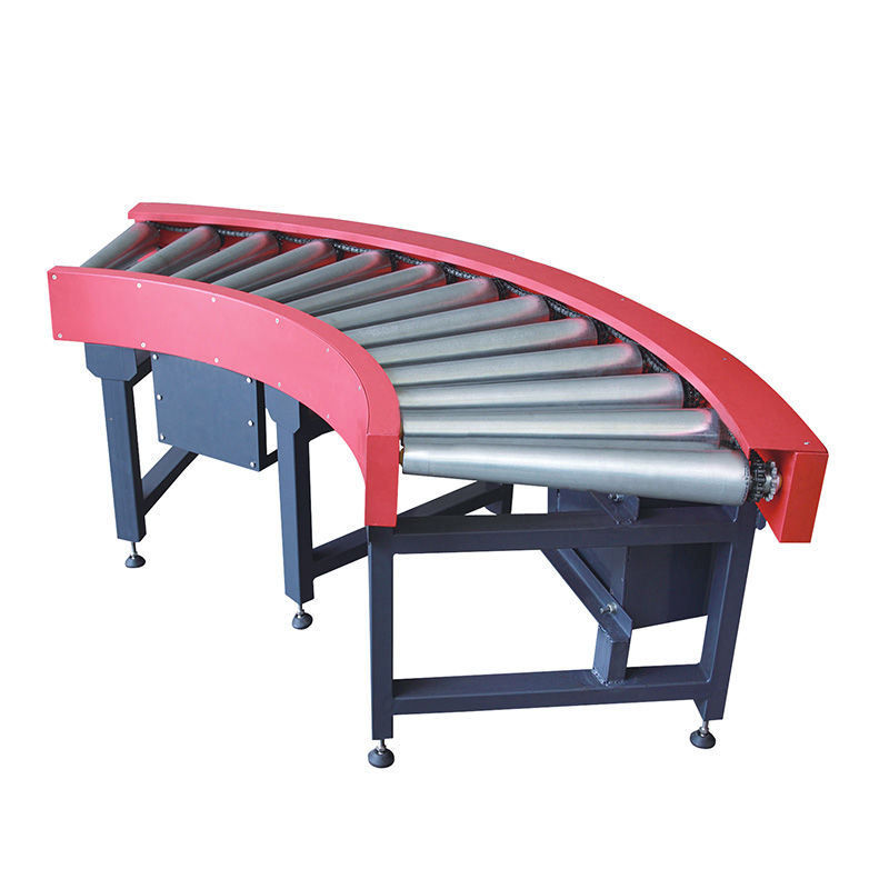 90 Degree Motorized Roller Curve Conveyor