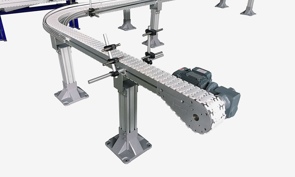 Aluminum Flexible Top Chain Conveyors