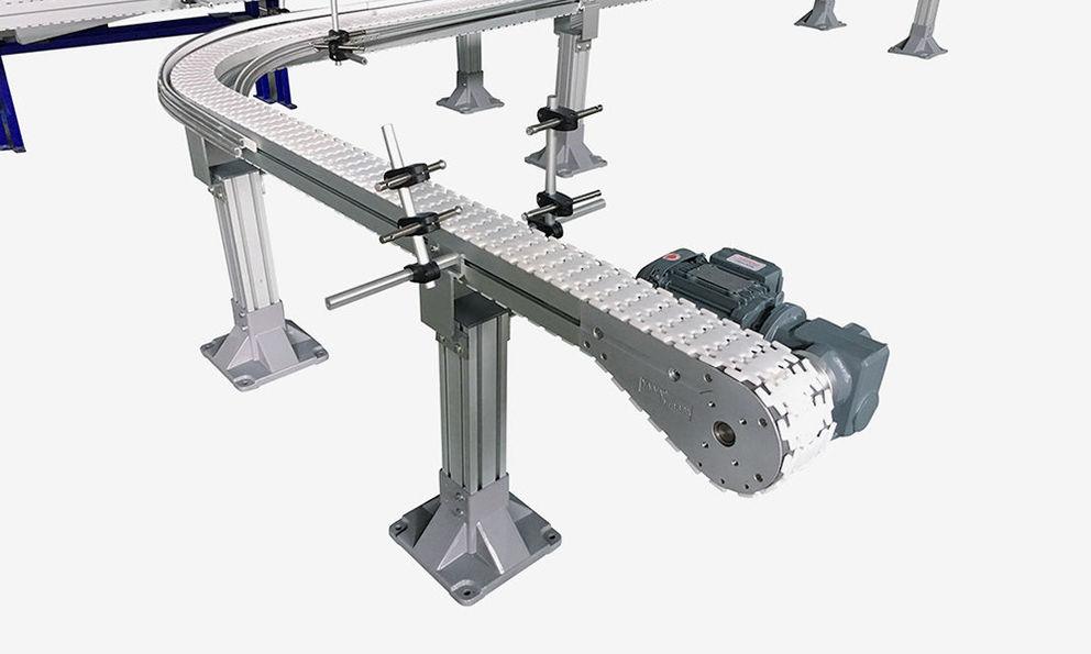 Aluminum Flexible Plastic Chain Conveyors