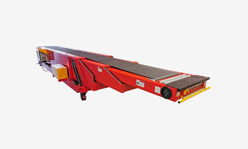 6-8m Mobile telescopic belt conveyor with hydraulic height adjust for 20ft container loading unloading