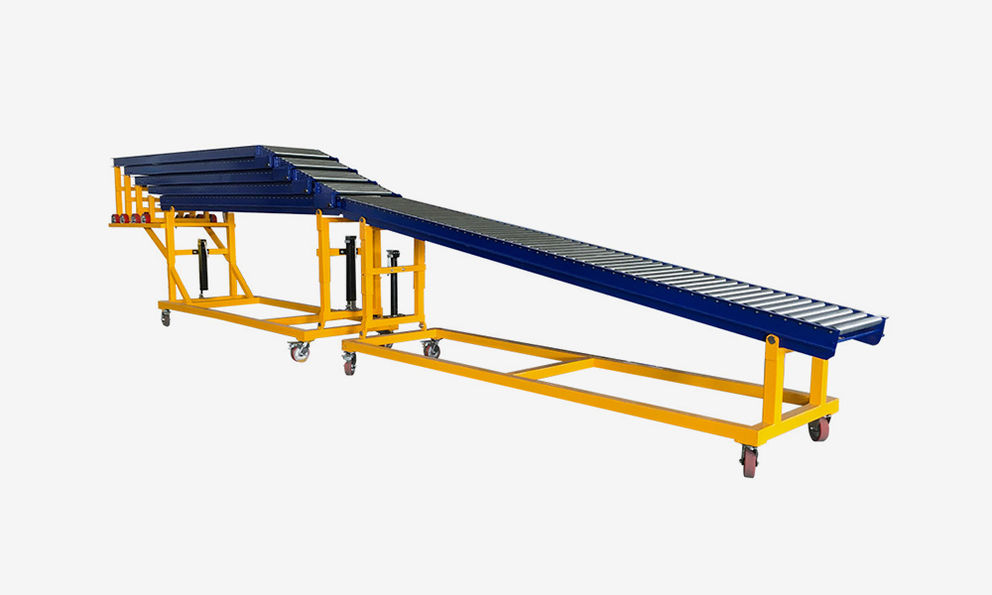 Robust Extendible Gravity Conveyor for Unloading Container Vehicles of all sizes by portable conveyor supplier