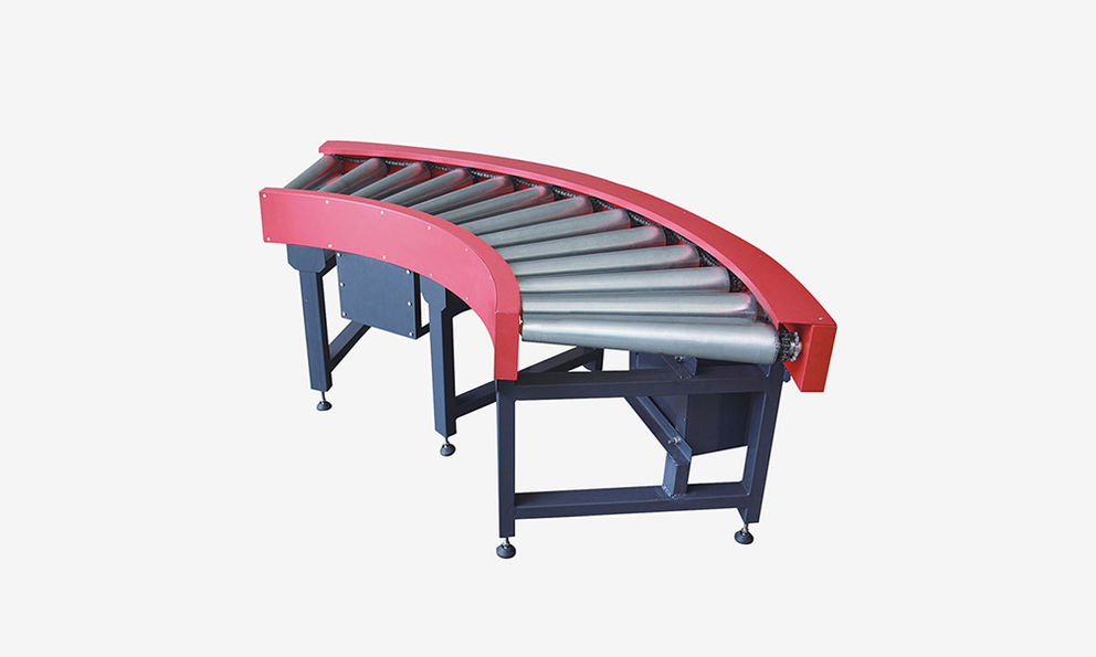 90 Degree Motorized Roller Curve Conveyors