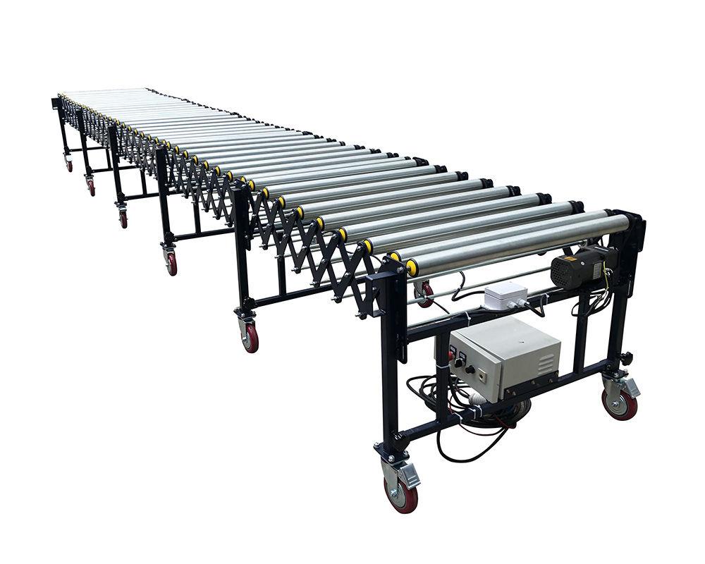 Flexible Powered Roller Conveyor-V belt