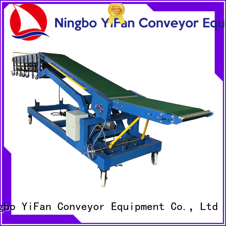 YiFan system truck loading belt conveyor company for warehouse