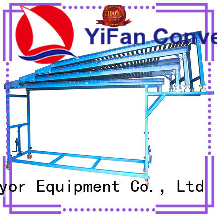 YiFan extendible telescopic conveyors export worldwide for grain transportation