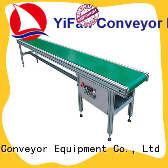 YiFan plastic belt conveyor manufacturer with bottom price for packaging machine
