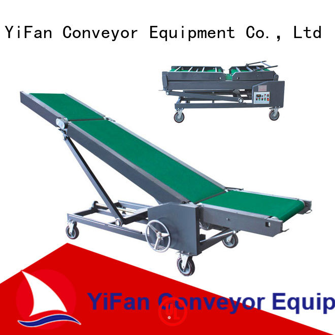 YiFan foldable portable conveyor system manufacturer for dock