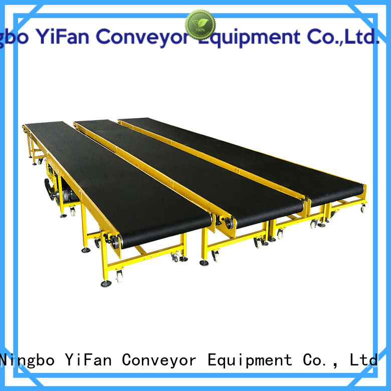 YiFan curve roller belt conveyor manufacturers for packaging machine