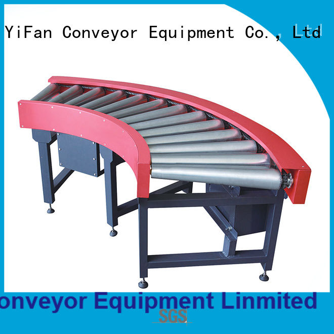YiFan stainless conveyor manufacturing companies from China for carton transfer
