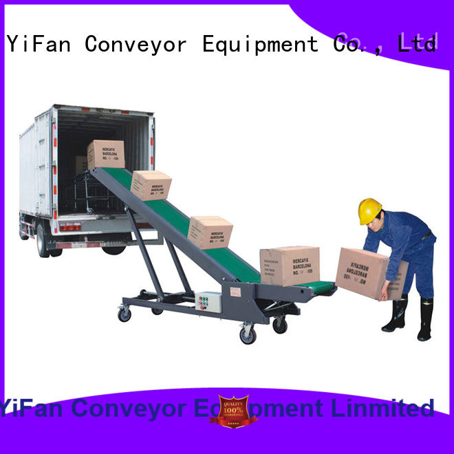 YiFan auto truck loading conveyor company for factory