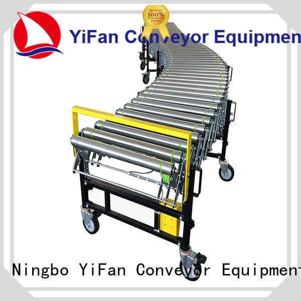 YiFan belt flexible roller conveyor systems factory for dock