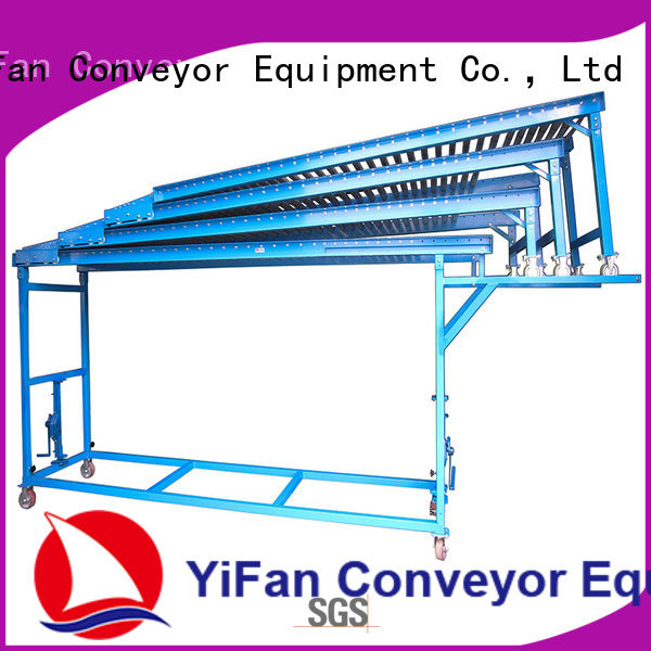 YiFan extendible gravity roller conveyor systems export worldwide for dock