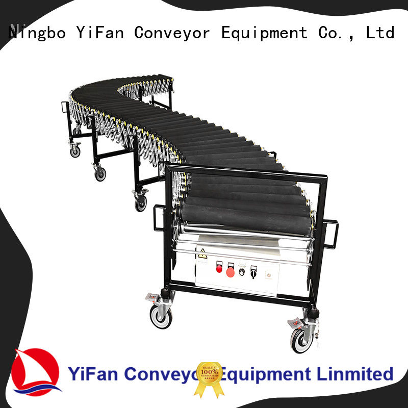 YiFan coated flexible motorized roller conveyor quick transaction for dock