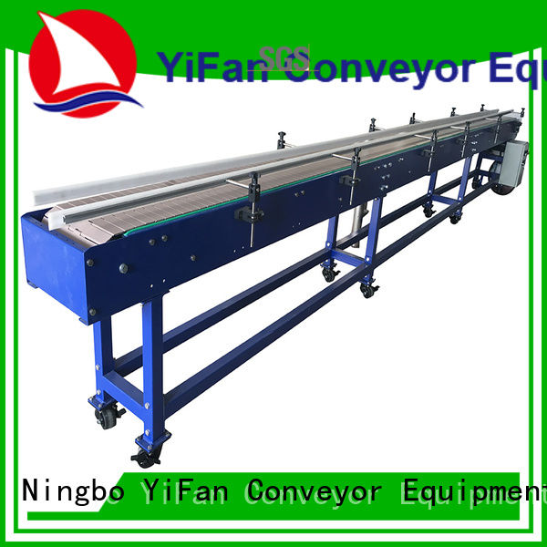 YiFan slat top chain conveyor online for cosmetics industry