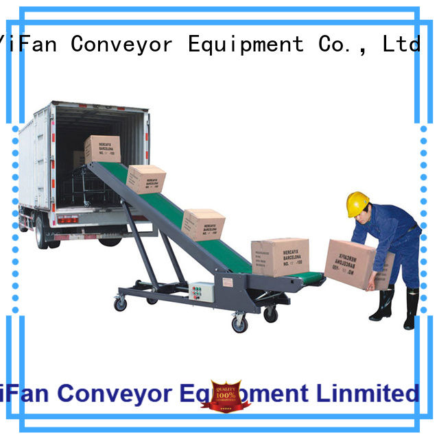 Professional truck unloading conveyor walking China supplier for factory