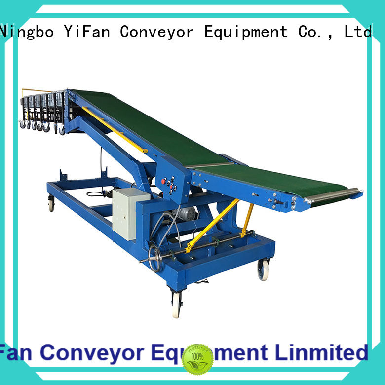 YiFan automatic trailer truck unloader conveyor company for warehouse
