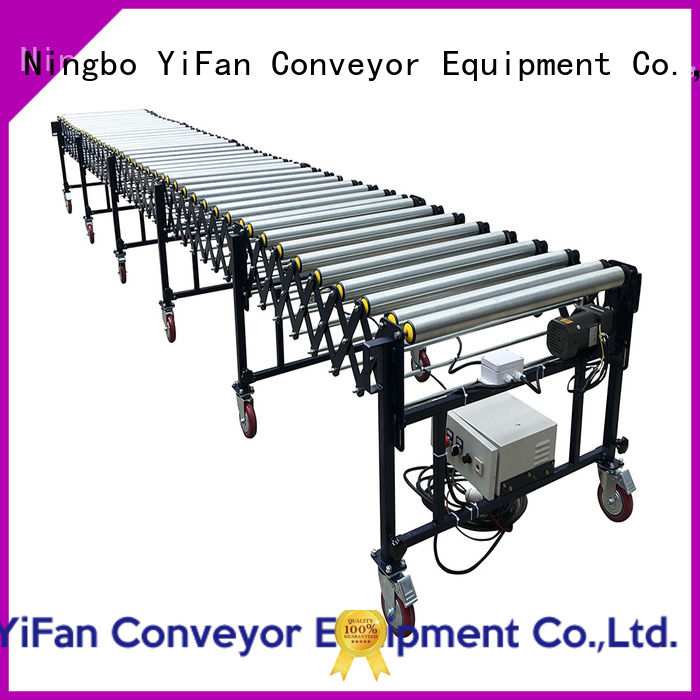 YiFan rubber flexible motorized roller conveyor manufacturer for factory