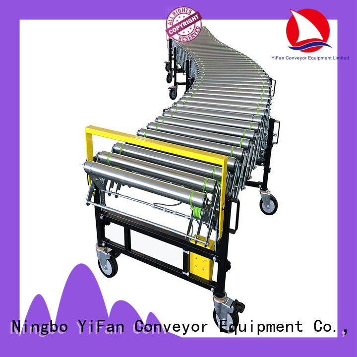 YiFan powered flexible expandable conveyors quick transaction for dock