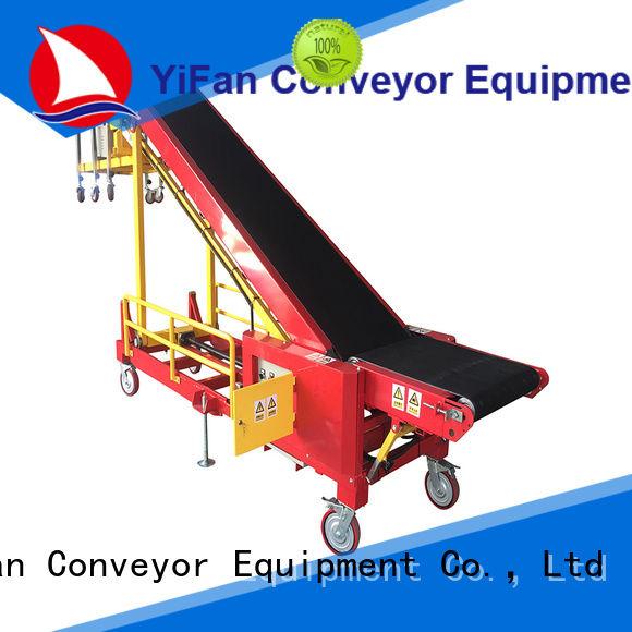 YiFan van truck unloading conveyor company for factory