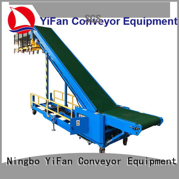 YiFan foldable truck unloader conveyor online for airport
