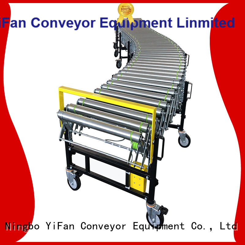YiFan coated flexible belt conveyor request for quote for storehouse