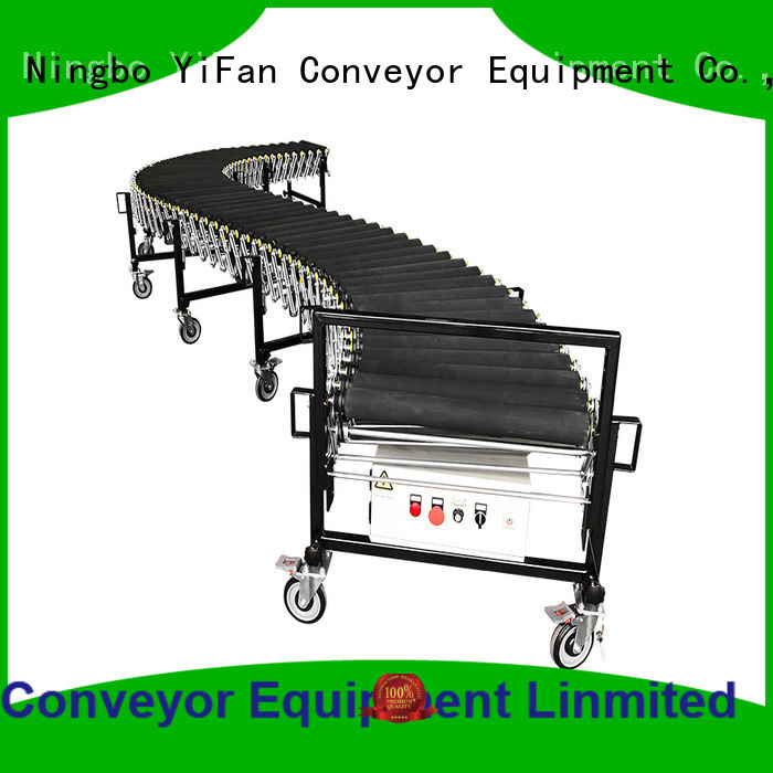 YiFan most popular angled roller conveyor coated for dock