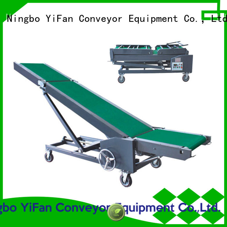 YiFan 2019 new truck loading unloading conveyor manufacturer for factory