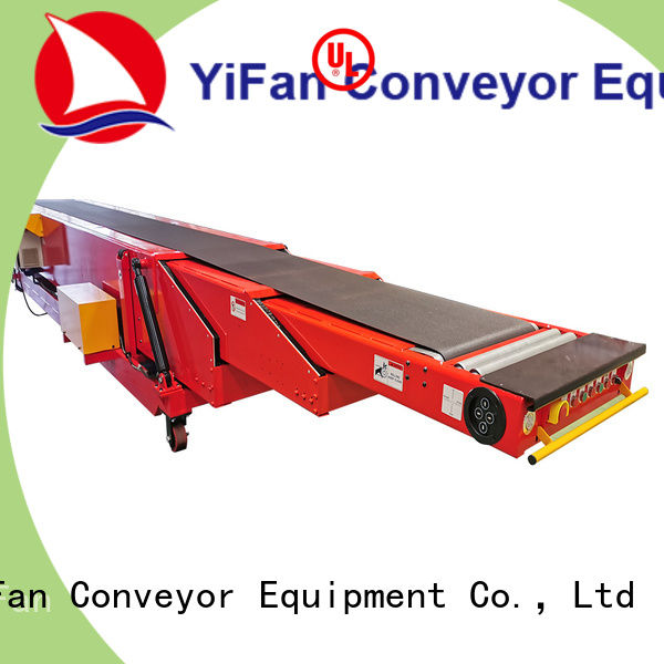 YiFan container belt conveyor competitive price for workshop