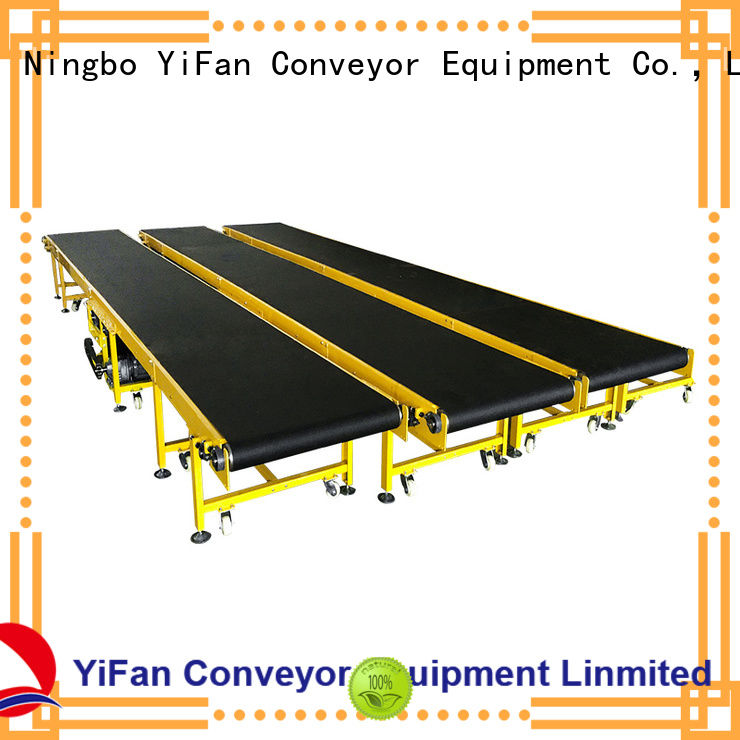 YiFan curve belt conveyor manufacturer with bottom price for packaging machine
