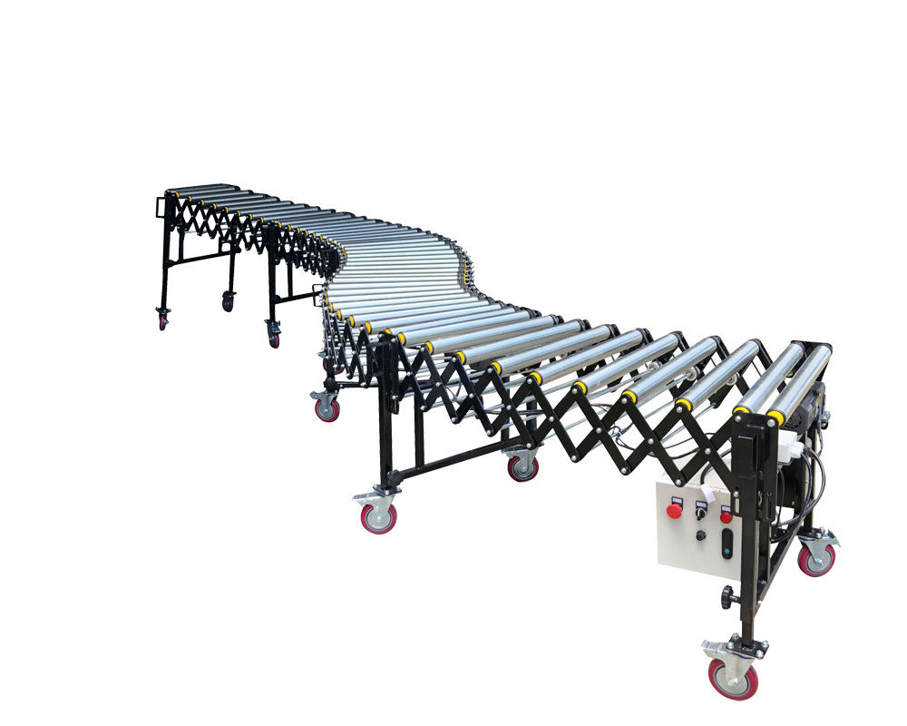 100KG Load Capacity Flexible Powered Roller Conveyor | FPR-V