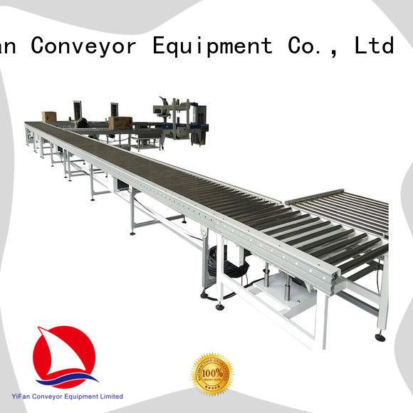 YiFan degree gravity roller conveyor for carton transfer