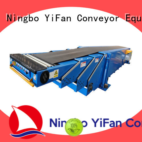 YiFan telescopic conveyor belt manufacturer widely use for seaport