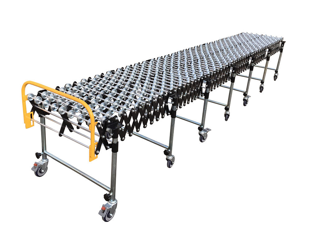 Flexible Gravity Steel Skate Wheel Conveyor