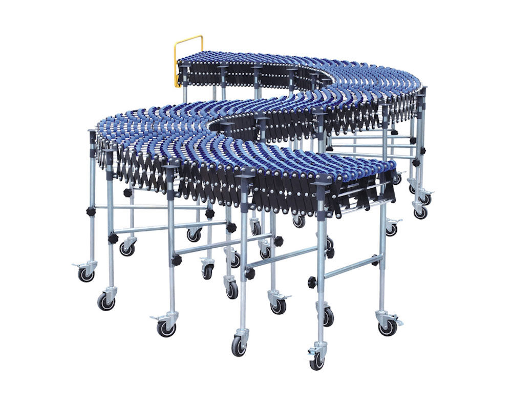 Flexible Gravity Plastic Skate Wheel Conveyor