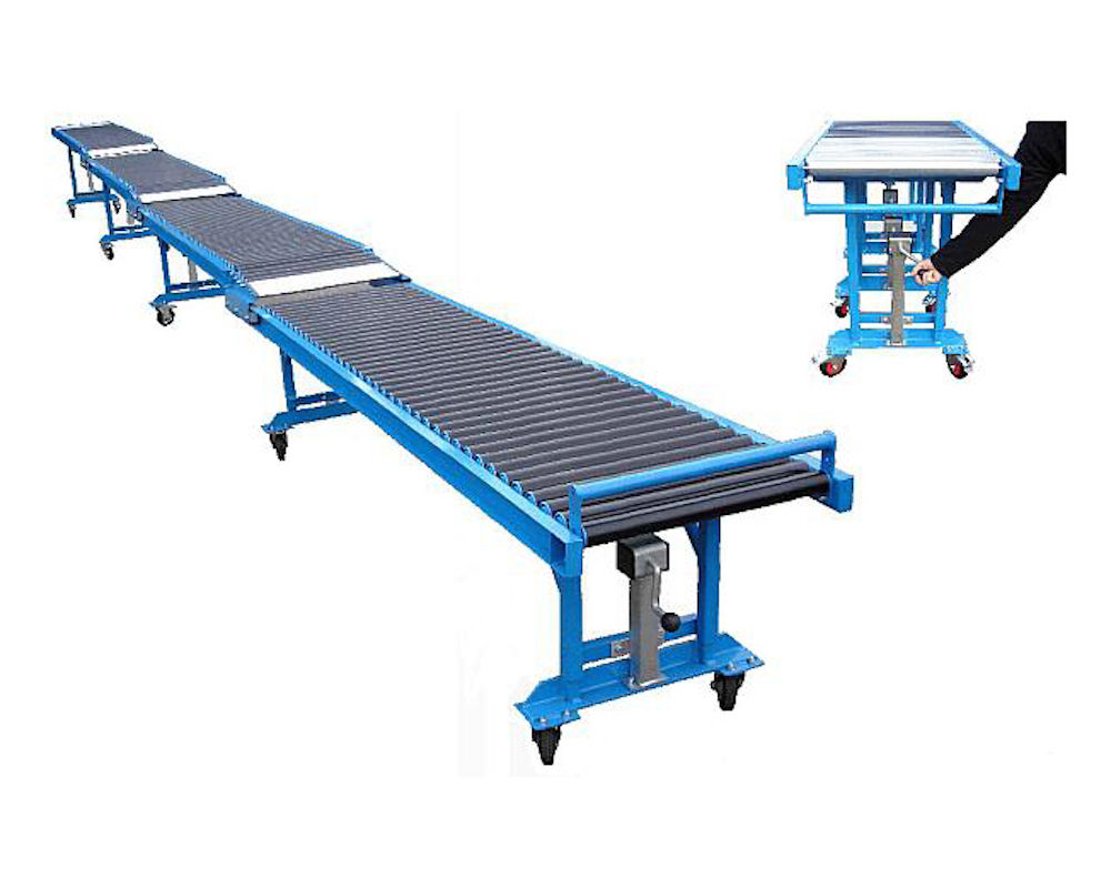 Mobile Telescopic Gravity Roller Conveyor for Floor
