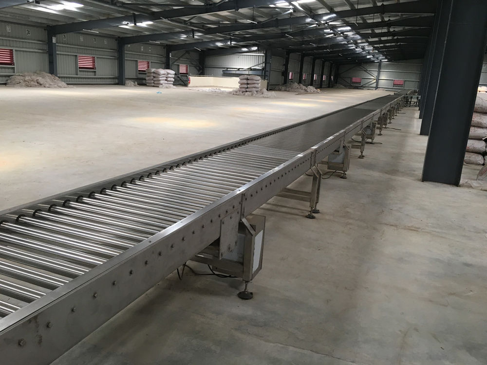 Stainless Steel Powered Roller Conveyor